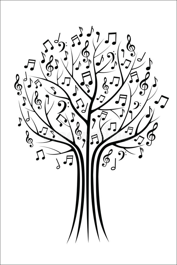 Δέντρο μουσικής διανυσματική απεικόνιση
