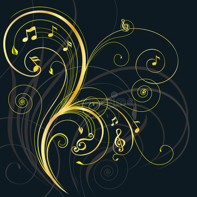 δέντρο μουσικής ελεύθερη απεικόνιση δικαιώματος