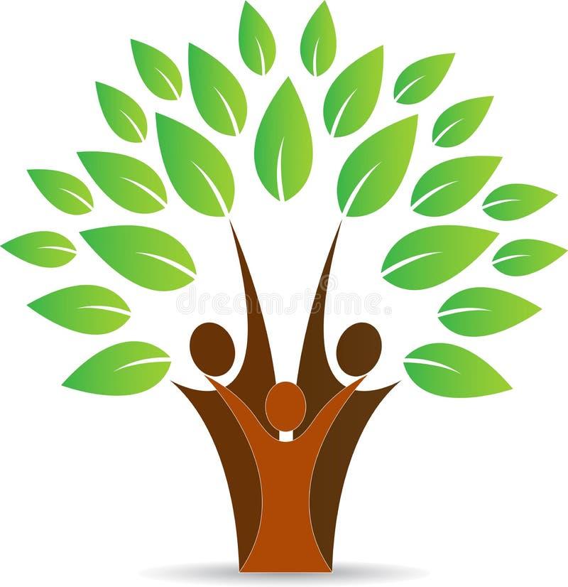 Δέντρο οικογενειακών ανθρώπων διανυσματική απεικόνιση