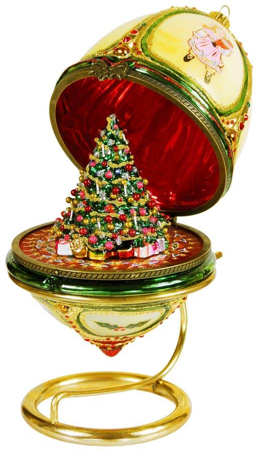 δέντρο παιχνιδιών αυγών Χριστουγέννων κιβωτίων στοκ εικόνα με δικαίωμα ελεύθερης χρήσης
