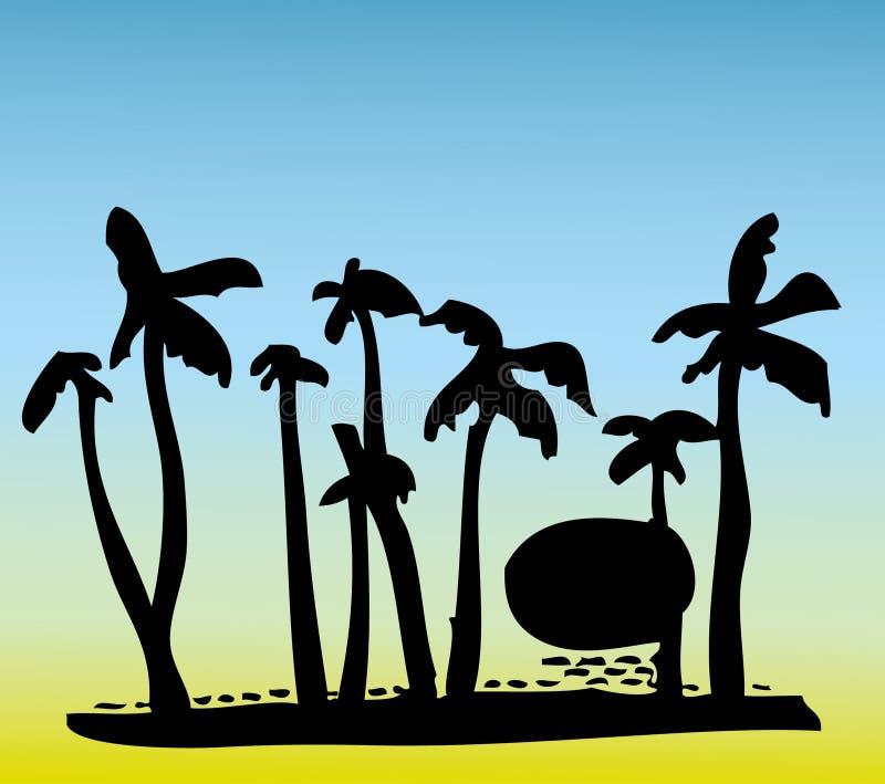 δέντρο παραλιών καρύδων στοκ εικόνες με δικαίωμα ελεύθερης χρήσης