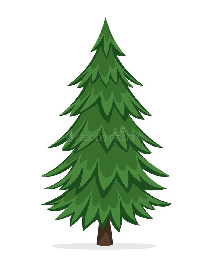 Δέντρο πεύκων κινούμενων σχεδίων διανυσματική απεικόνιση