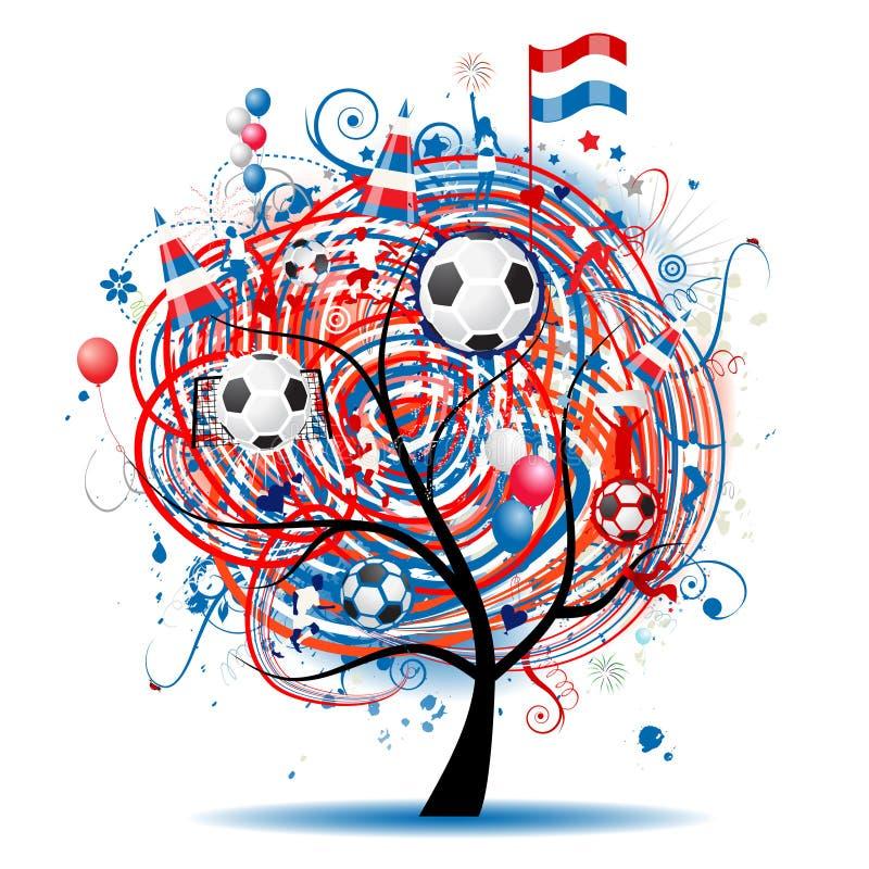 δέντρο ποδοσφαίρου σχε&del διανυσματική απεικόνιση