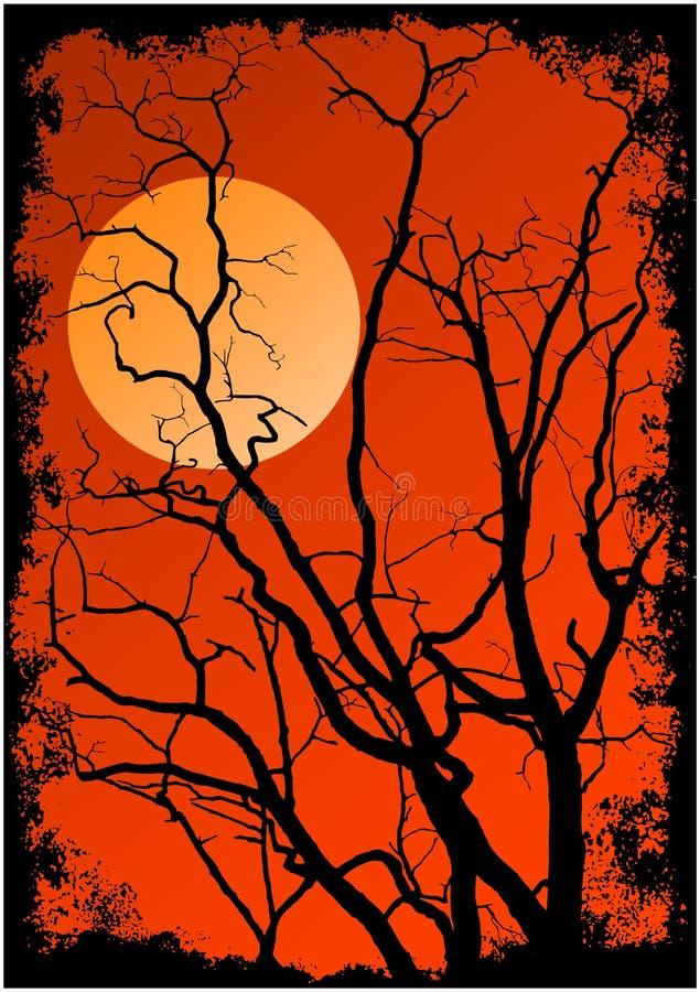 δέντρο σκιαγραφιών κλάδων διανυσματική απεικόνιση