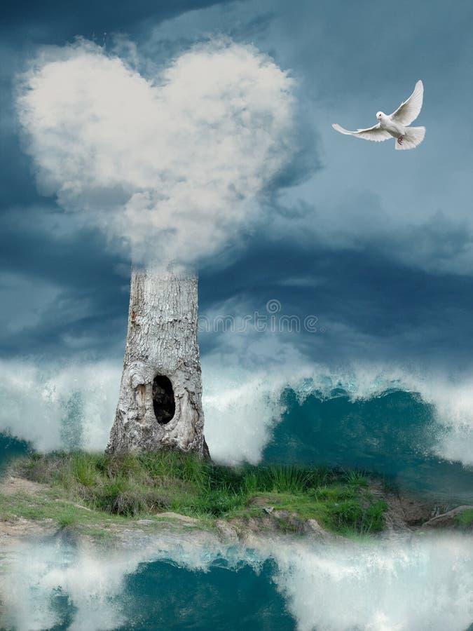 δέντρο σπιτιών φαντασίας ελεύθερη απεικόνιση δικαιώματος
