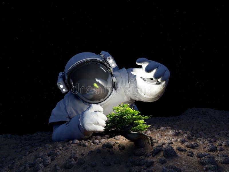 Δέντρο στο διάστημα ελεύθερη απεικόνιση δικαιώματος