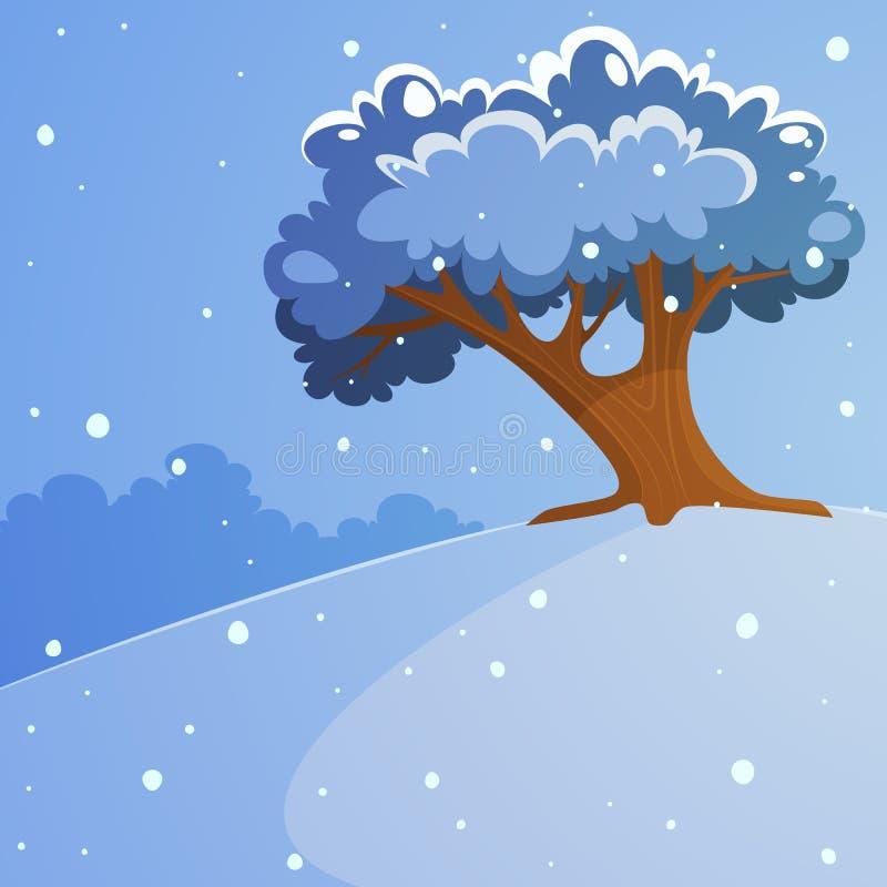 Δέντρο στο λόφο απεικόνιση αποθεμάτων