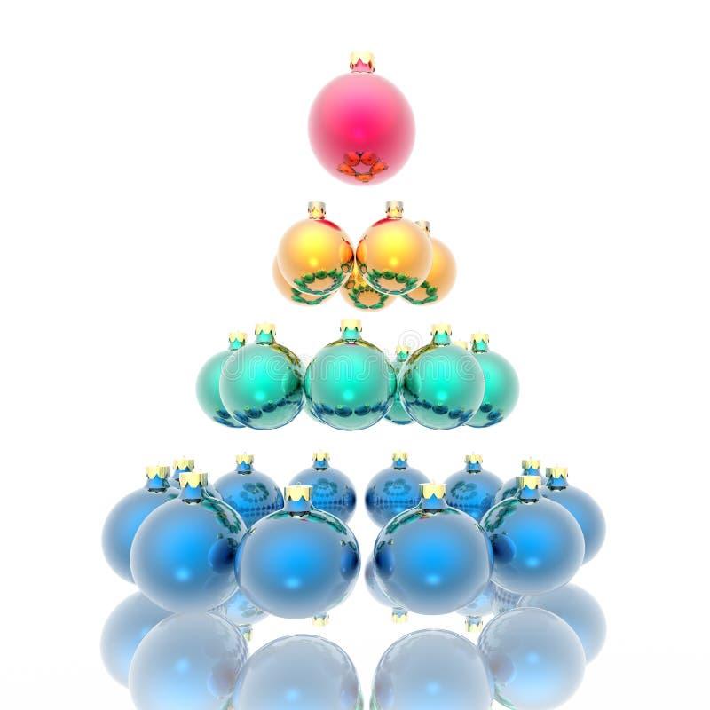 δέντρο σφαιρών Χριστουγένν απεικόνιση αποθεμάτων