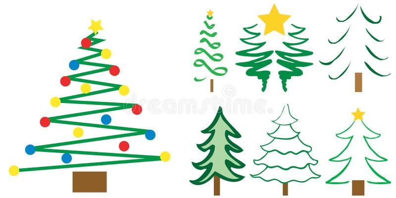 δέντρο σχεδίων Χριστουγέ&nu διανυσματική απεικόνιση