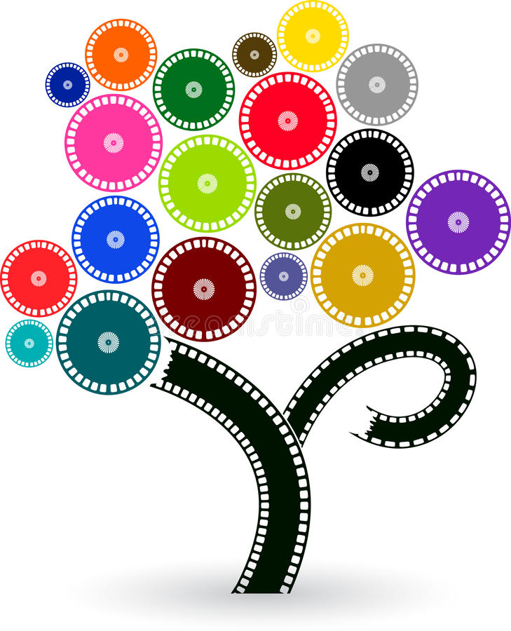 δέντρο ταινιών ελεύθερη απεικόνιση δικαιώματος