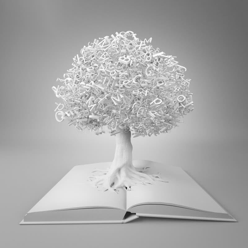 Δέντρο της γνώσης διανυσματική απεικόνιση