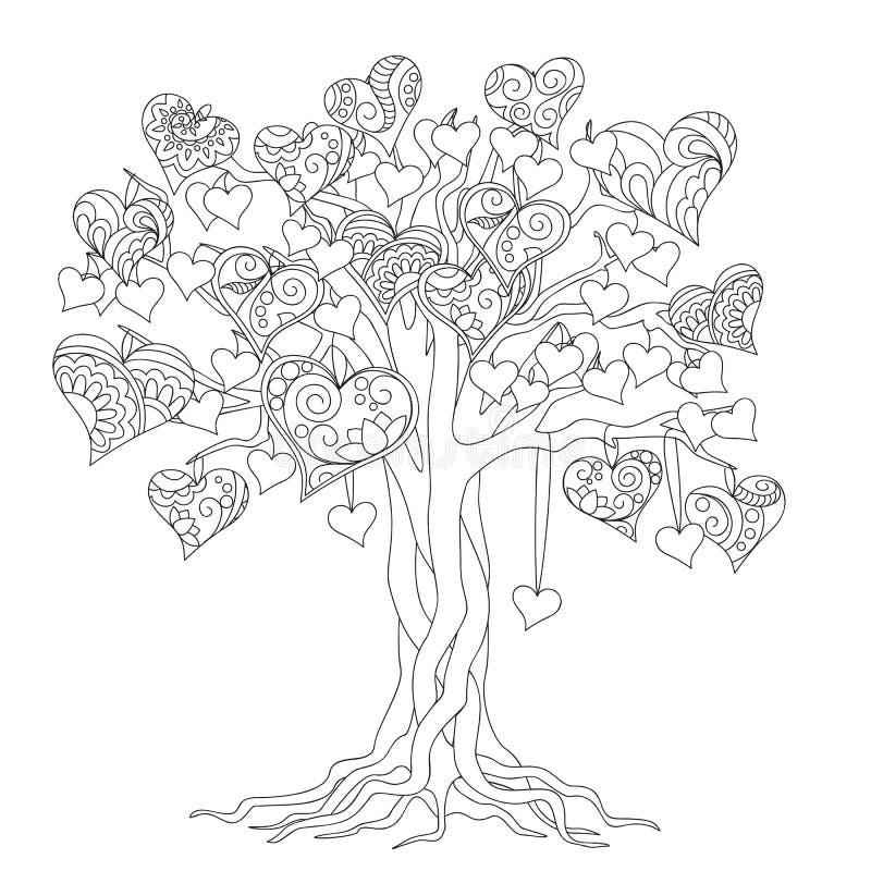 Δέντρο της Zen της αγάπης διανυσματική απεικόνιση