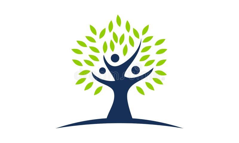 Δέντρο του θεραπεύοντας κέντρου ζωής διανυσματική απεικόνιση
