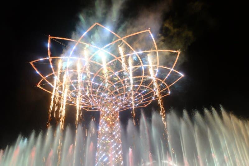 Δέντρο του Μιλάνου EXPO της ζωής στοκ φωτογραφίες