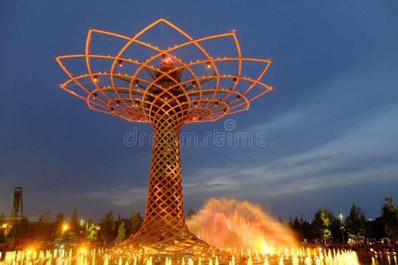 Δέντρο του Μιλάνου EXPO της ζωής στοκ εικόνες με δικαίωμα ελεύθερης χρήσης