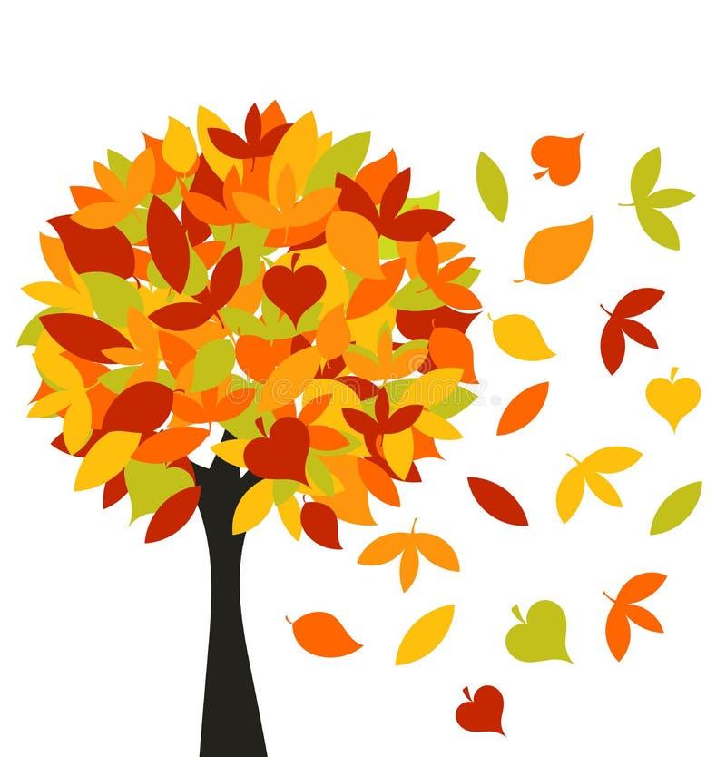 δέντρο φθινοπώρου διανυσματική απεικόνιση