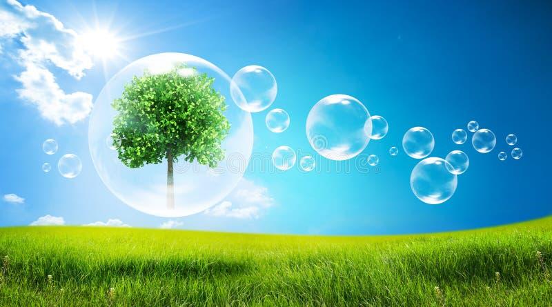 δέντρο φυσαλίδων διανυσματική απεικόνιση