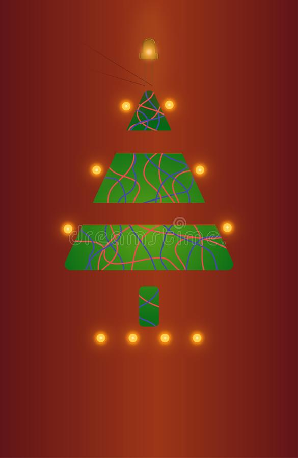 δέντρο χαιρετισμού Χριστ&omic στοκ φωτογραφίες με δικαίωμα ελεύθερης χρήσης