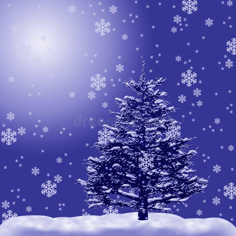 δέντρο χιονιού γουνών διανυσματική απεικόνιση