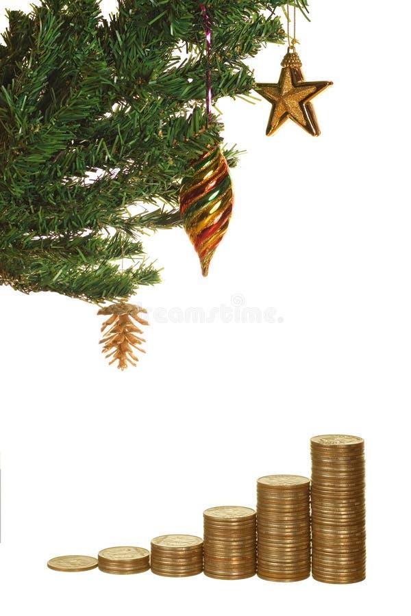 δέντρο χρημάτων Χριστουγέν&nu στοκ εικόνες με δικαίωμα ελεύθερης χρήσης