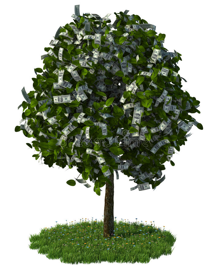 Download δέντρο χρημάτων απεικόνιση αποθεμάτων. εικονογραφία από δολάριο - 22779969