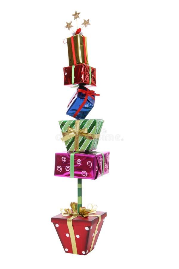 δέντρο χριστουγεννιάτικων δώρων στοκ εικόνα με δικαίωμα ελεύθερης χρήσης