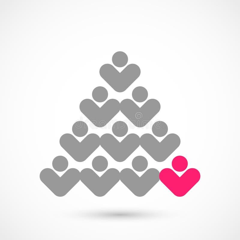 Δέντρο ψηφοφορίας Χριστουγέννων διανυσματική απεικόνιση