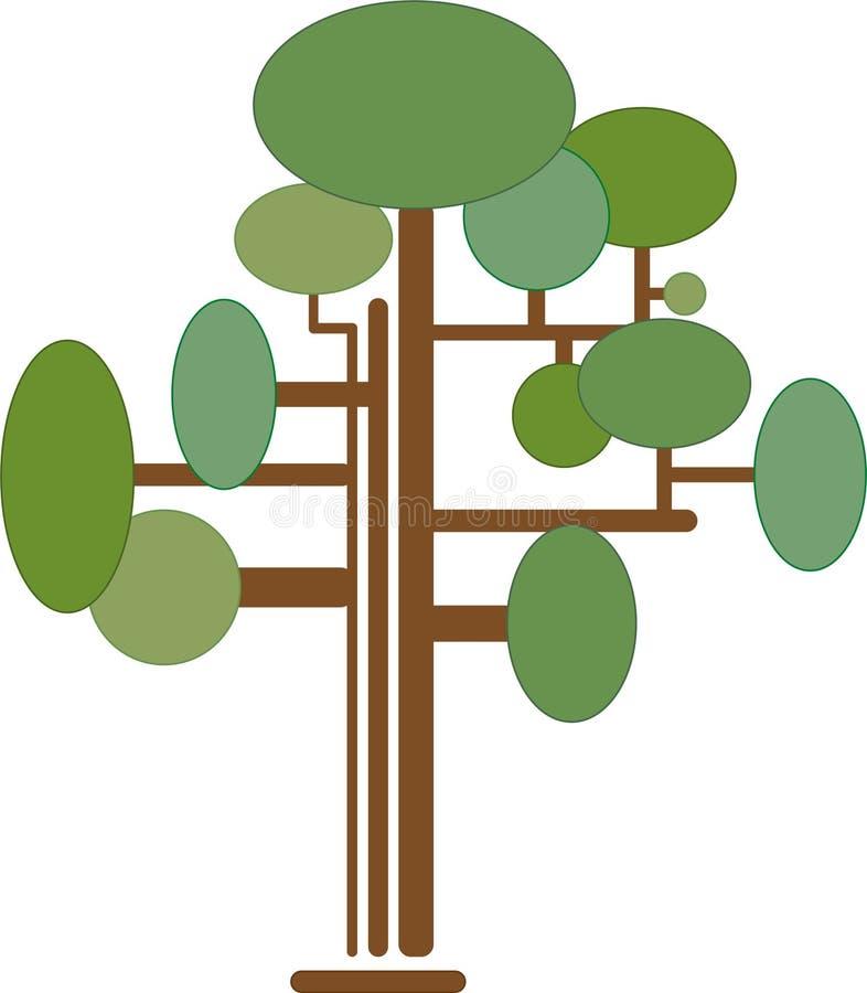 Δέντρο Infographics γενεαλογικός στοκ φωτογραφία με δικαίωμα ελεύθερης χρήσης