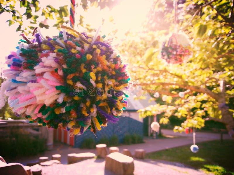 Δέντρο Pom-pom στοκ φωτογραφίες με δικαίωμα ελεύθερης χρήσης