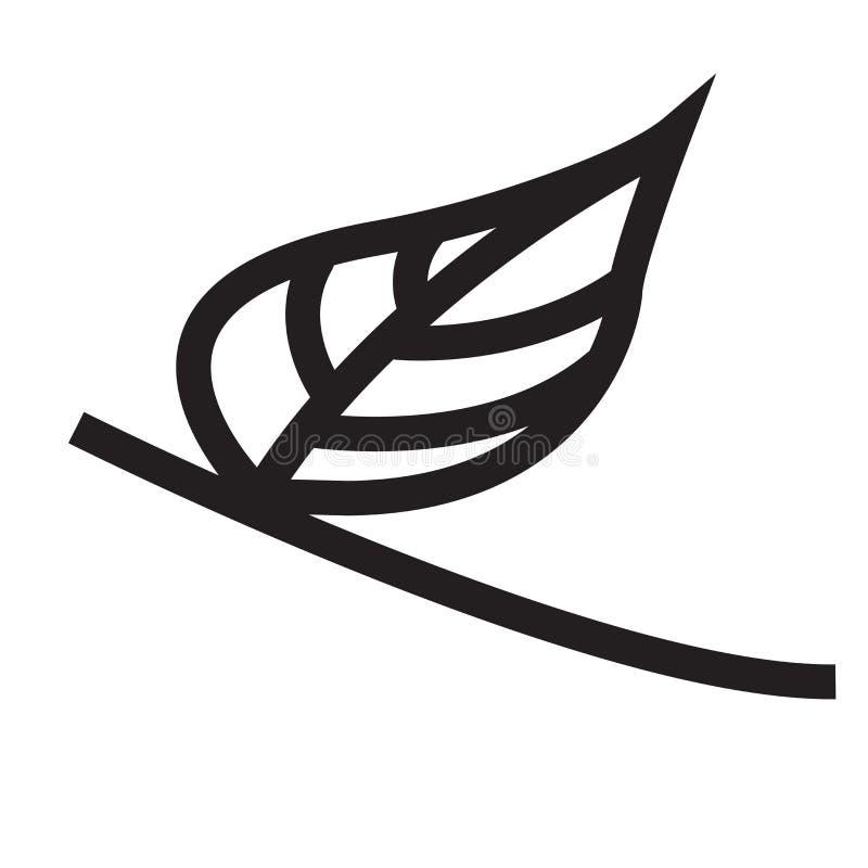 Δέντρων άδειας σημάδι και σύμβολο εικονιδίων διανυσματικό που απομονώνονται στο άσπρο backgro απεικόνιση αποθεμάτων