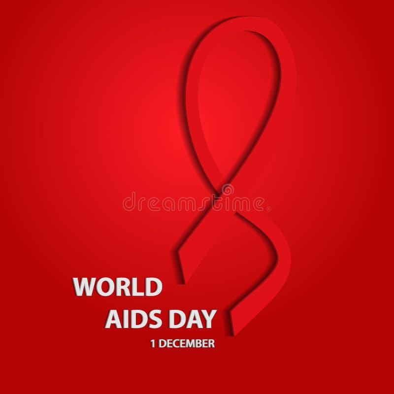 δέο Τρισδιάστατη έννοια Παγκόσμιας Ημέρας κατά του AIDS EPS10 επίσης corel σύρετε το διάνυσμα απεικόνισης διανυσματική απεικόνιση
