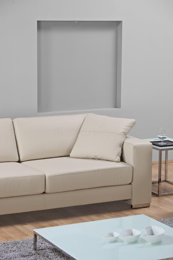 δέρματος καναπές δωματίων & στοκ εικόνες