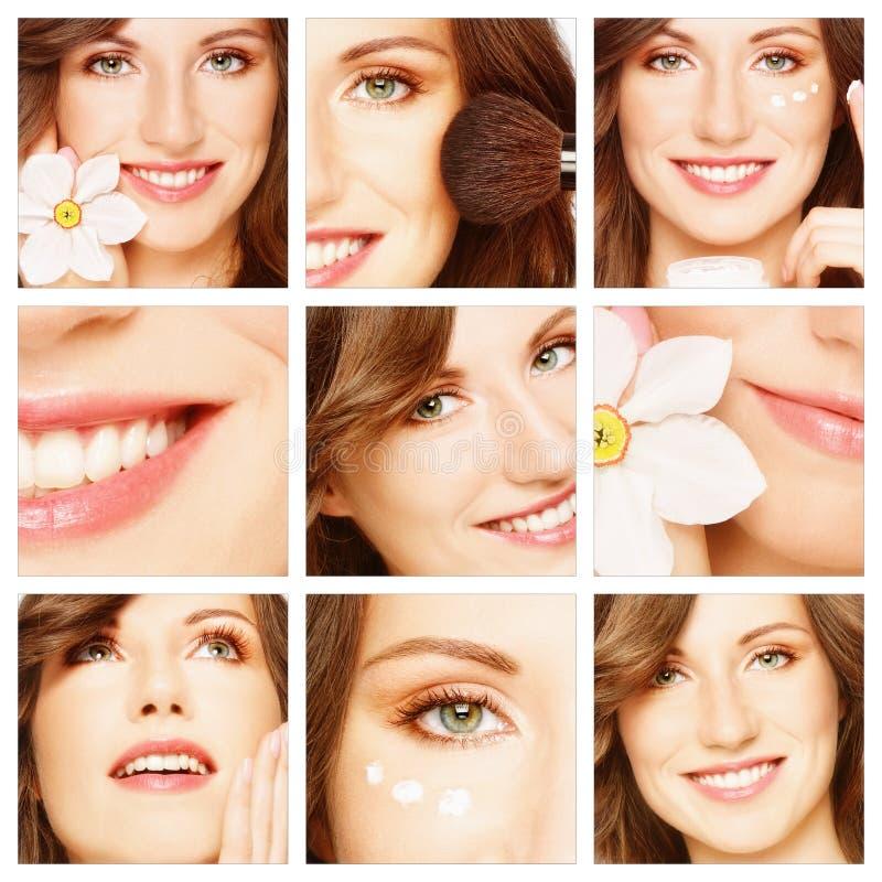 δέρμα προσοχής ομορφιάς makeup στοκ εικόνες
