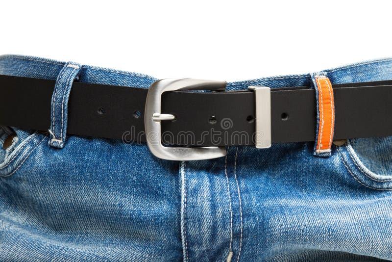 δέρμα τζιν παντελόνι ζωνών στοκ φωτογραφία με δικαίωμα ελεύθερης χρήσης