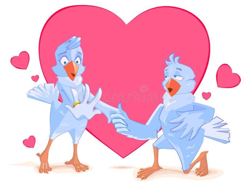 Δέσμευση πουλιών γαμήλιων περιστεριών Το περιστέρι προσφέρει την καρδιά του καθολικός γάμος Ιστού προτύπων σελίδων πρόσκλησης χαι απεικόνιση αποθεμάτων