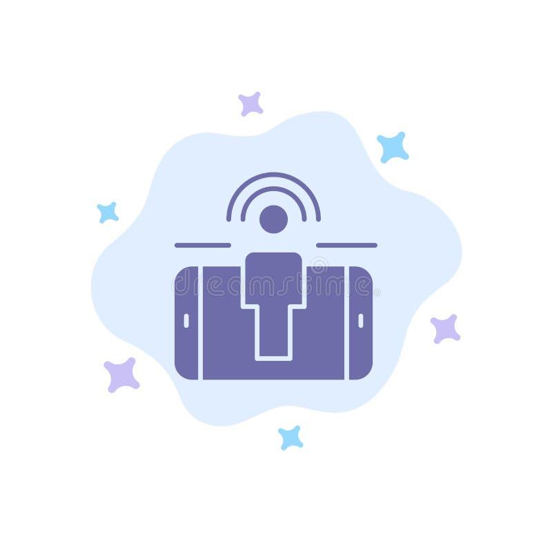 Δέσμευση, χρήστης, δέσμευση χρηστών, μπλε εικονίδιο μάρκετινγκ στο αφηρημένο υπόβαθρο σύννεφων απεικόνιση αποθεμάτων