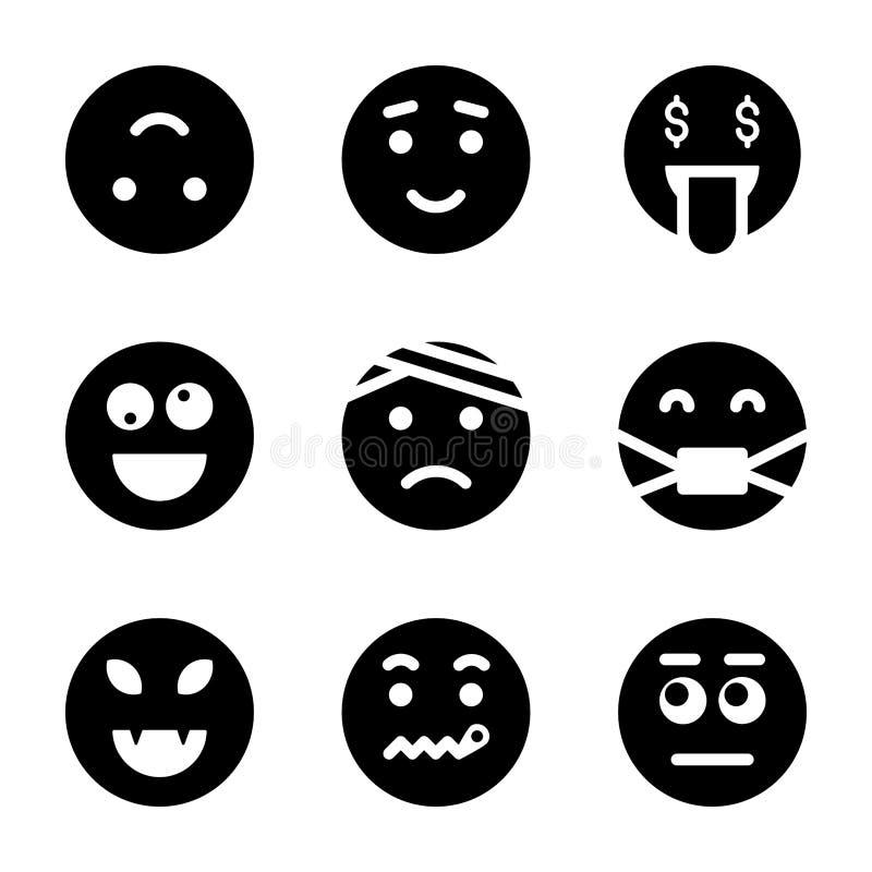 Δέσμη εικονιδίων Emoticons απεικόνιση αποθεμάτων