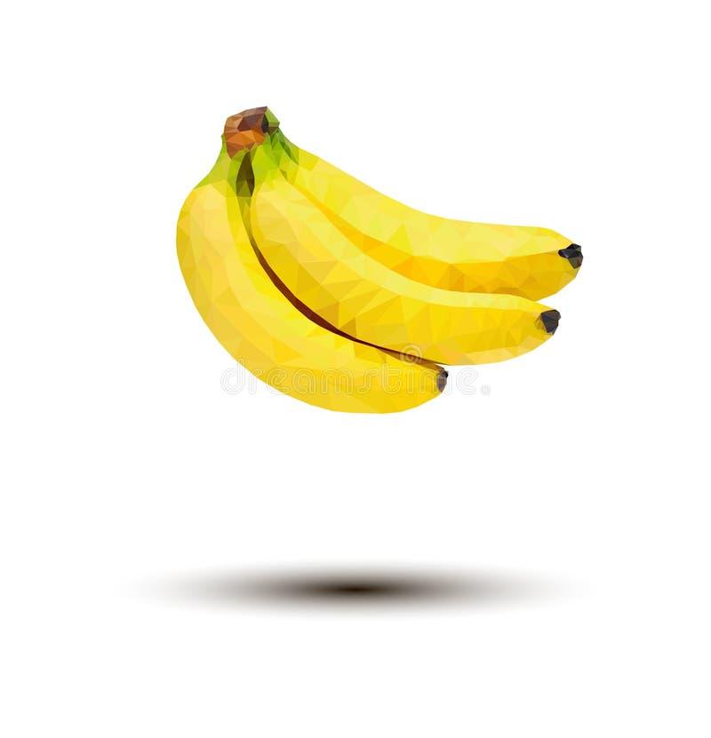 Δέσμη του διανύσματος μπανανών στο άσπρο υπόβαθρο στοκ φωτογραφίες
