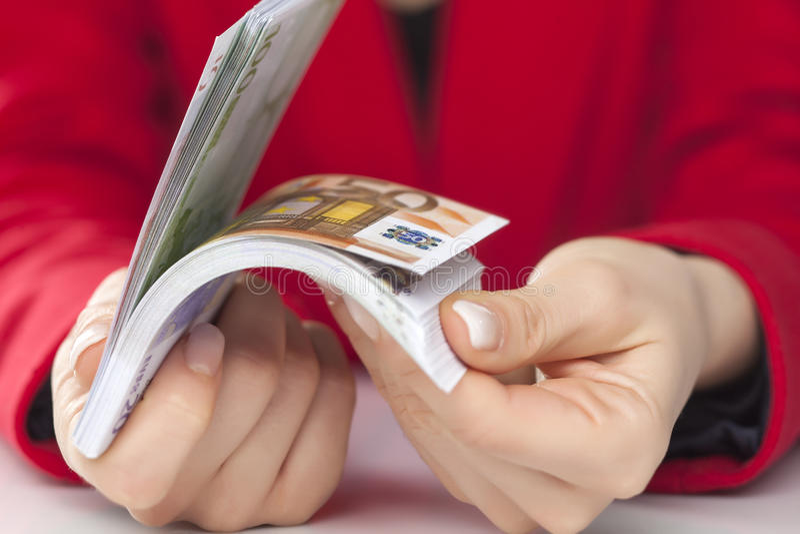 Δέσμη των ευρώ στοκ εικόνες