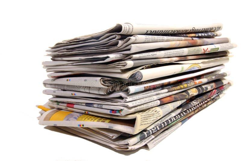 Δέσμη των ολλανδικών εφημερίδων στοκ φωτογραφία