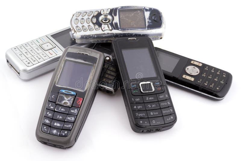 Δέσμη των παλαιών κινητών τηλεφώνων στοκ εικόνα