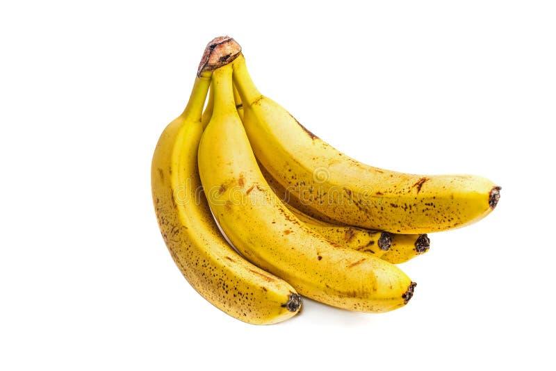 Δέσμη των ώριμων μπανανών με τα σκοτεινά σημεία στοκ φωτογραφία με δικαίωμα ελεύθερης χρήσης