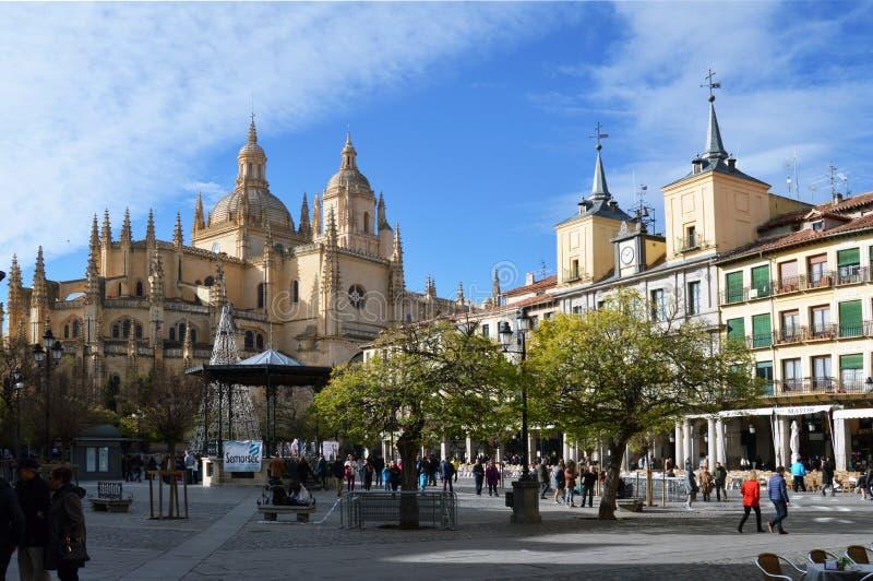 Δήμαρχος Hall και καθεδρικός ναός στοκ εικόνα με δικαίωμα ελεύθερης χρήσης
