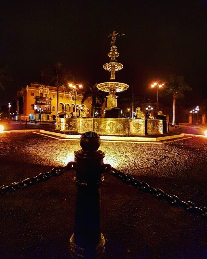 Δήμαρχος Plaza Pileta Λίμα Περού στοκ εικόνες με δικαίωμα ελεύθερης χρήσης