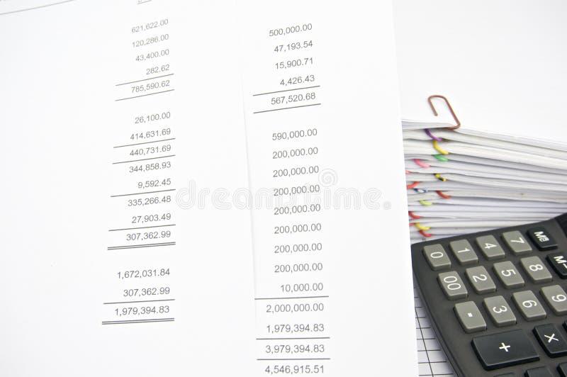 Δήλωση απώλειας κέρδους με τη δήλωση και τον υπολογιστή χρηματοδότησης στοκ φωτογραφία με δικαίωμα ελεύθερης χρήσης