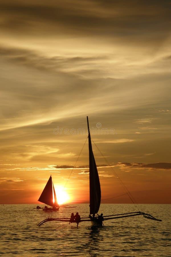 δίδυμο ηλιοβασιλέματο&sig στοκ φωτογραφία