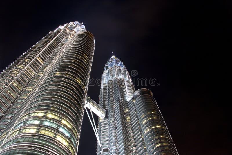 δίδυμο πύργων petronas νύχτας στοκ φωτογραφίες με δικαίωμα ελεύθερης χρήσης