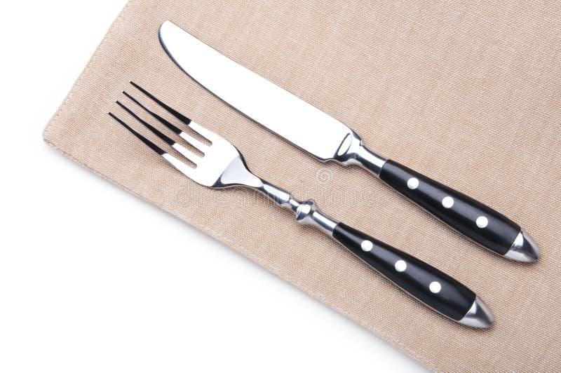 Δίκρανο και μαχαίρι στοκ φωτογραφία