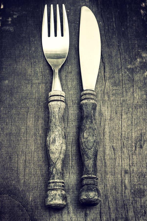 Δίκρανο και μαχαίρι στοκ φωτογραφία με δικαίωμα ελεύθερης χρήσης