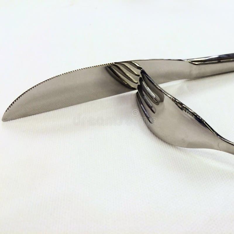 Δίκρανο και μαχαίρι στοκ φωτογραφίες με δικαίωμα ελεύθερης χρήσης